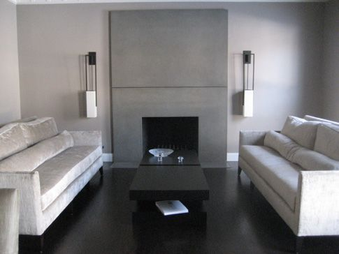 We want to put a concrete fireplace mantle around our existing ...
