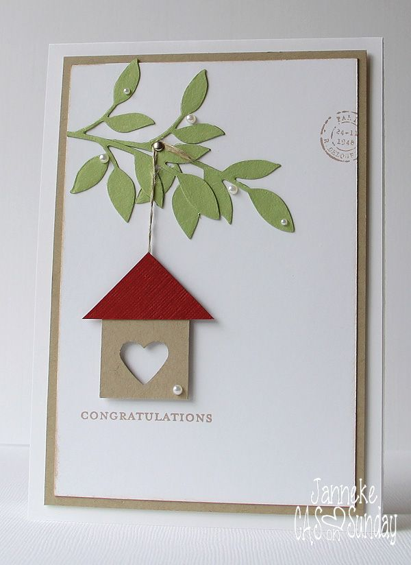 Cas On Sunday Challenge 16 Welcome Home In 2021 Housewarming Card Cards Handmade Card Craft
