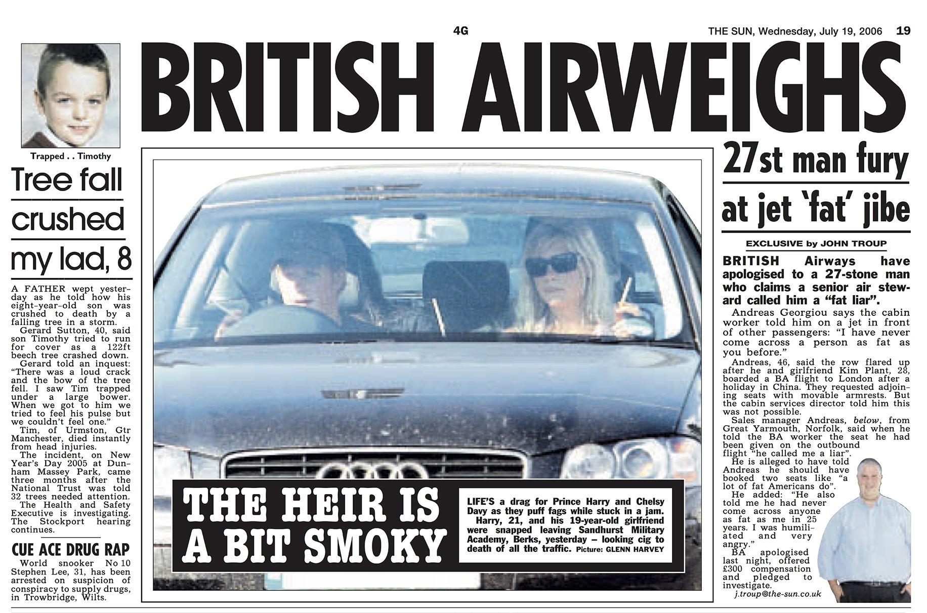 HRH Prince Harry and girlfriend Chelsy Davy smoking