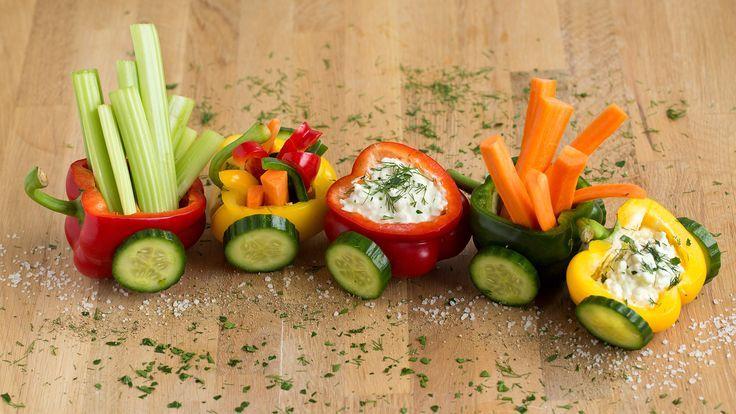 Gemüse-Zug für kleine Abenteurer ✔️ Gemüse mit Spaß snacken ✔️ Klindgerechte Dekoration macht Lust auf mehr ✔️ Zum Tipp ➡️ meinheimvorteil #landhausstildekoration