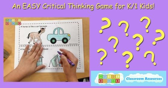 An EASY Critical Thinking Game for K/1 Kids! Thinking