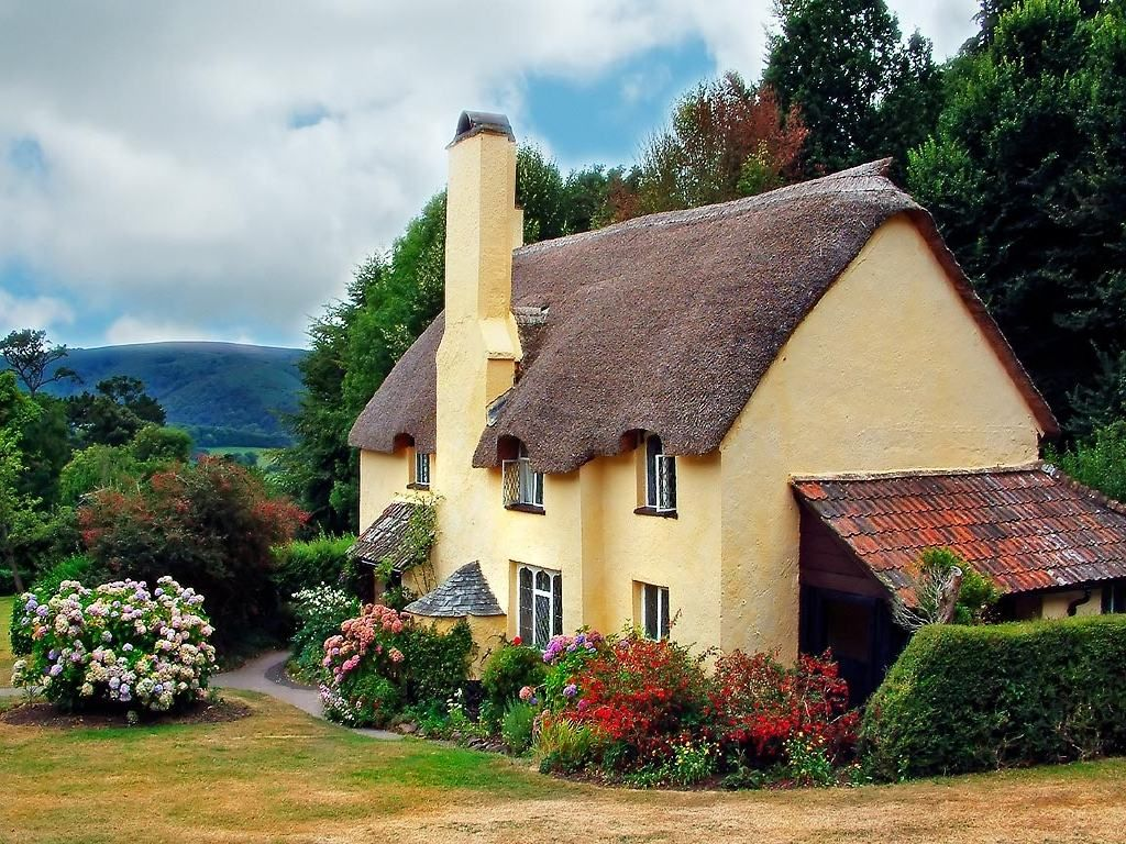 House. Download Free Wallpapers Backgrounds   Thatched Cottage Selworthy