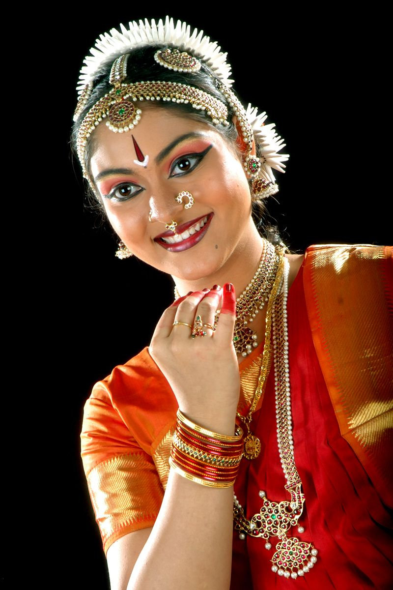 Classical Indian dancer in all her finery Indian
