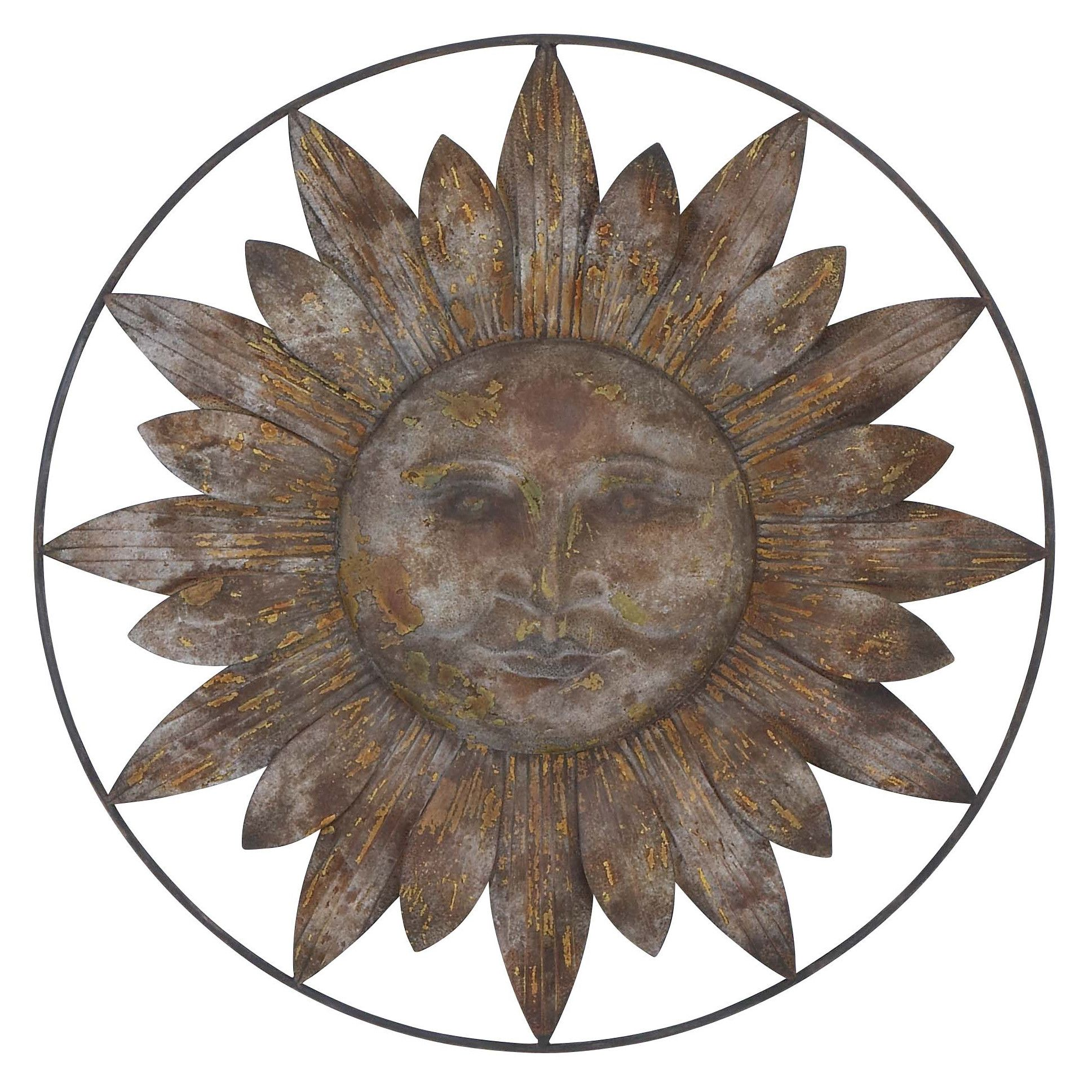 Woodland imports metal sun wall decor also would look sweet in my house rh pinterest