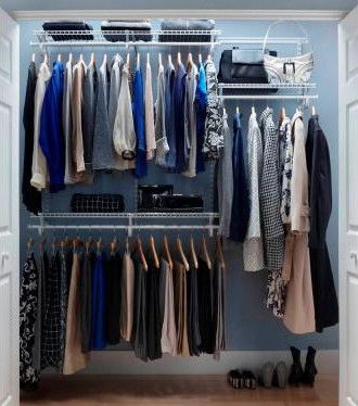 ClosetMaid ShelfTrack 5 Ft.  6 Ft. Closet Organizer Kit. Professional ...