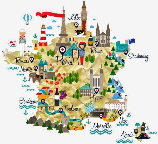 Carte de france le bistrot du fle map porn pinterest france map of france for french language course chiara alduini gumiabroncs Images