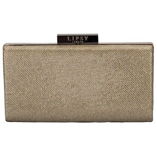 Lipsy Womens Champagne Shimmer Clutch Bag in Gold - One Size