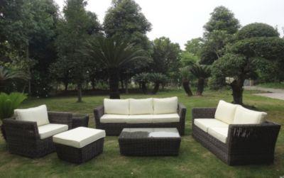 Gartenmöbel set lounge  Baidani Rundrattan Garten Lounge Garnitur Empire Jetzt bestellen ...