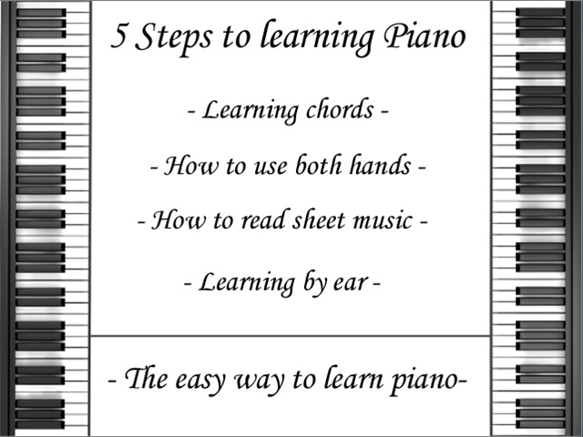 5 Steps the learning Piano - Learning chords - How to use ...