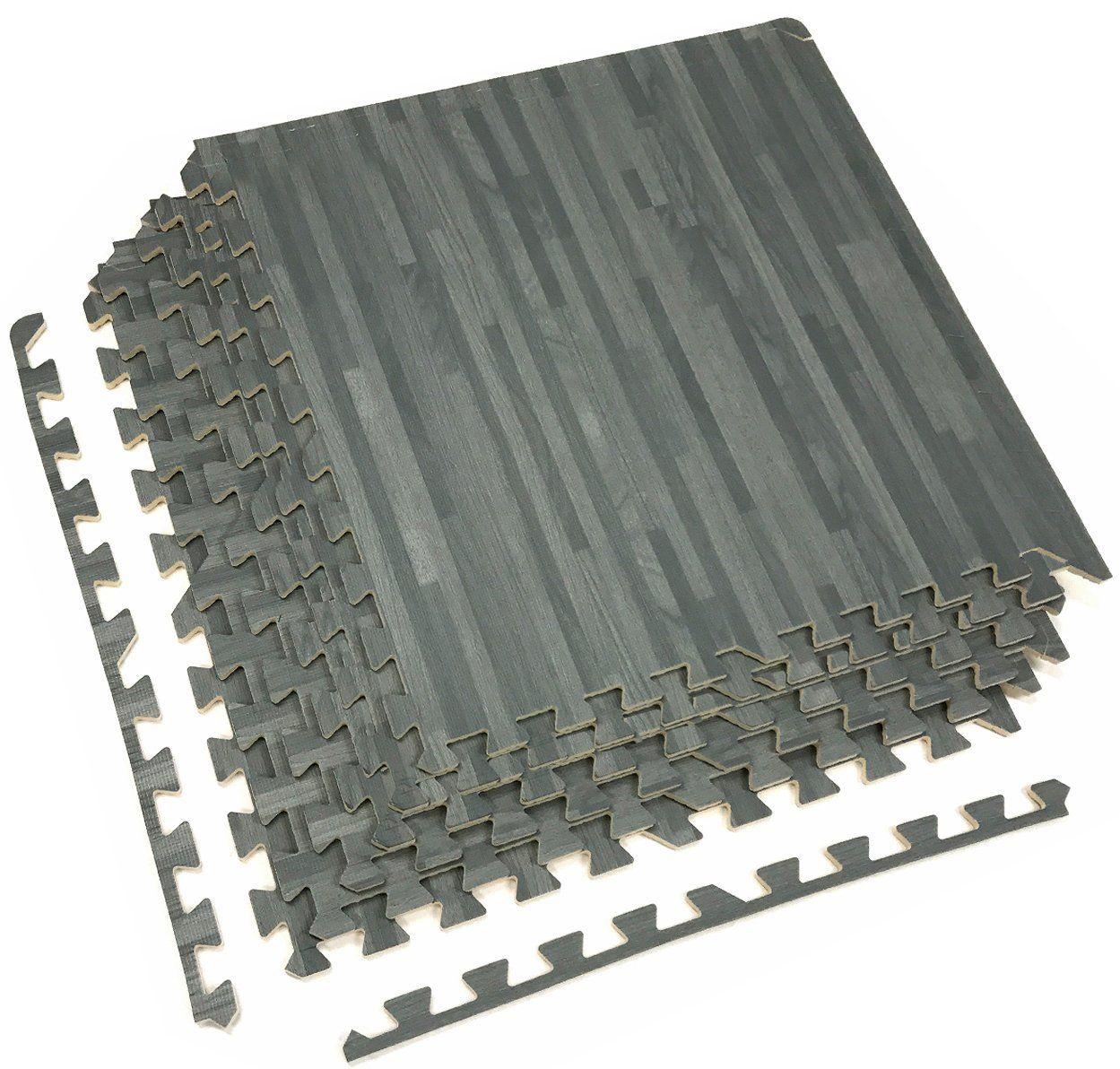 Sorbus Wood Grain Floor Mat 3 8 Inch Thick Foam Interlocking Flooring Tiles With Borders For H Interlocking Flooring Foam Floor Tiles Interlocking Floor Mats