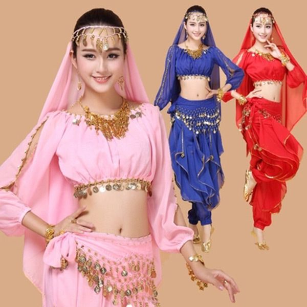 2015 New 3pcs Set <font><b>Belly</b></font> <font><b>Dance</b></font> Costume Bollywood Costume Indian Dress Bellydance Dress Womens <font><b>Belly</b></font> Dancing Costume Sets 4 pcs. ** Find out more by visiting the picture