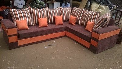 Orange And Brown L Seat Furniture Seating Outdoor Decor