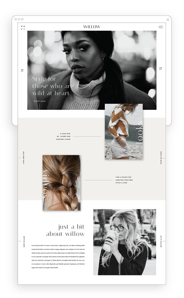 A Stylish and Chic Showit Website Template Design