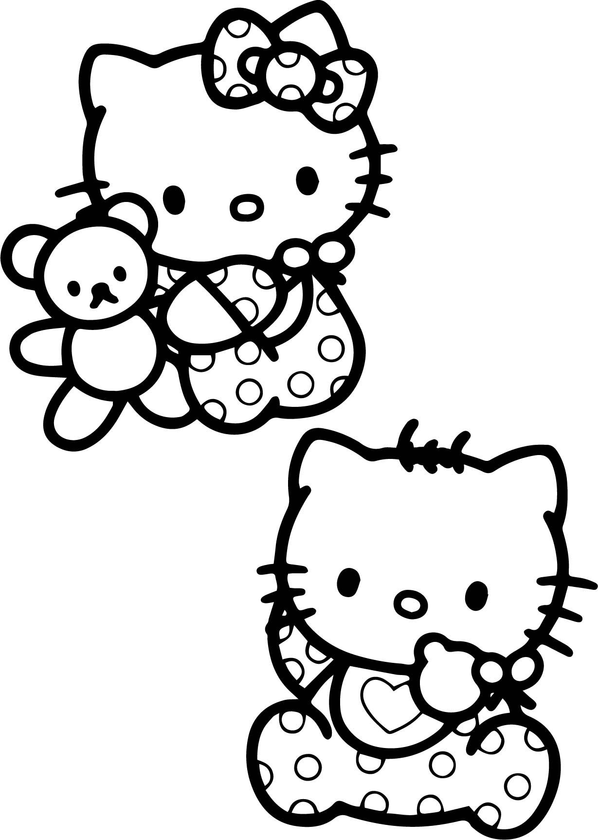 Awesome Baby Hello Kitty Coloring Pages