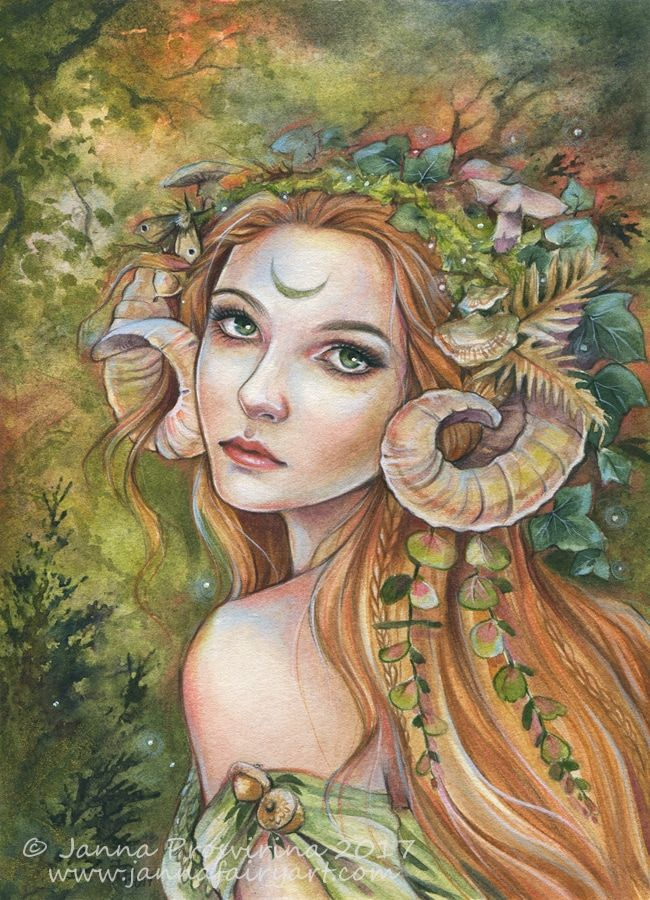 Janna Prosvirina Illustration Fairy Mermaid Witch Fantasy