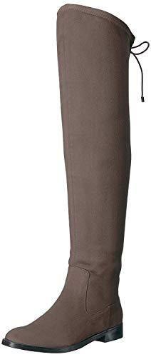991029106b Kenneth Cole REACTION Womens Wind Chime Over The Knee Boot (Dark Mushroom,  8)