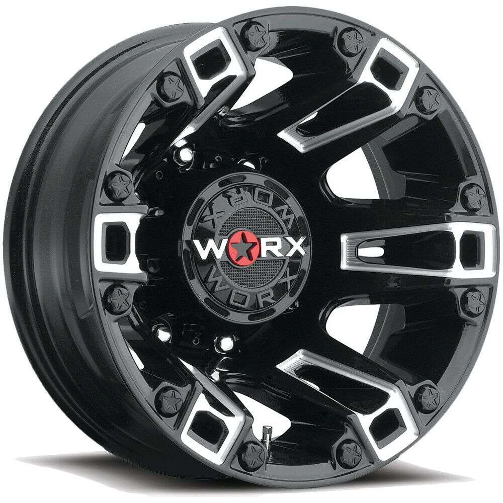 17 Inch Worx 803bm Beast Dually 17x6 5 8x6 5 140mm Black Milled Wheel Rim Bolt Pattern Dually Rims Custom Wheels Cars