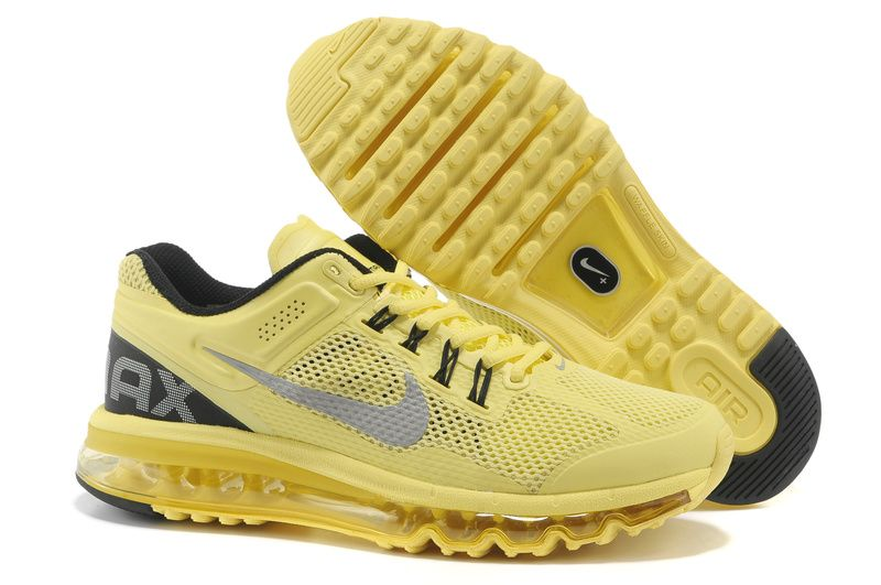 wholesale dealer 1dc81 f2d95 com Mens Nike Air Max 2013 Electric Yellow Reflective Silver Cool Grey Shoes