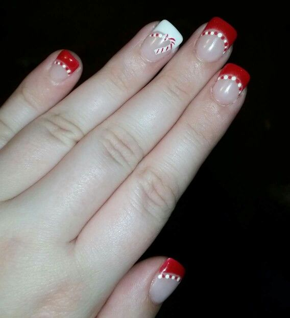 Candy cane nails,