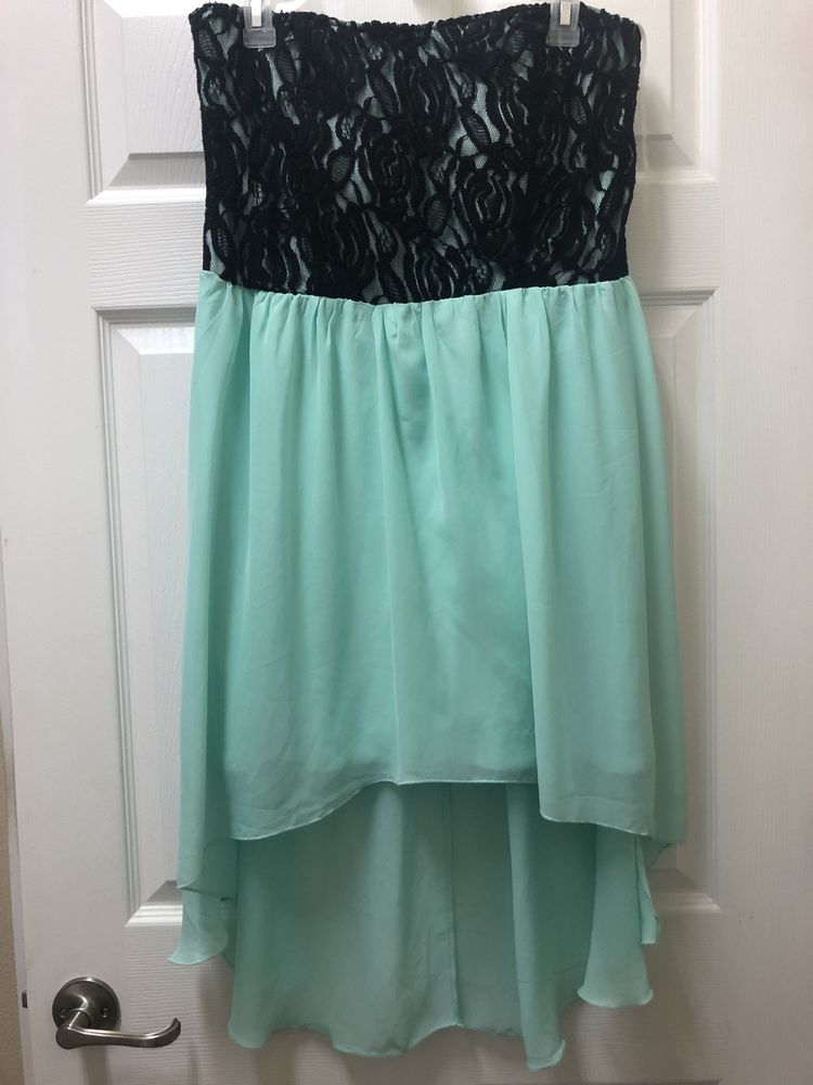 ab588e4bbb0 Miss Chevous Womens Dress XL Short Black And Teal(blue Green) Lace Detail   fashion  clothing  shoes  accessories  womensclothing  dresses (ebay link)