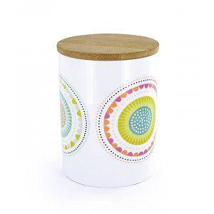 Atomic Soda Porceleinen pot met houten deksel