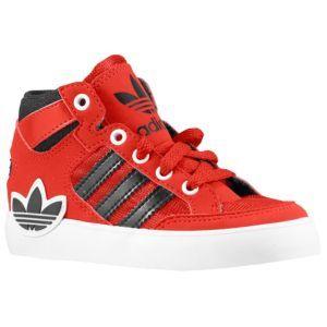 923e538c2b30 adidas Originals Hard Court Hi - Boys  Toddler - Basketball - Shoes - Black Running  White Running White