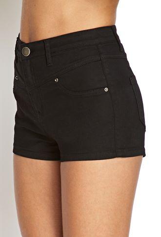 black denim shorts forever 21