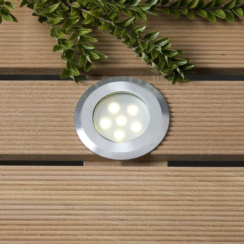 The sirius garden deck light is supplied with two lenses one clear one frosted please note that only one sirius decking light is supplied per order