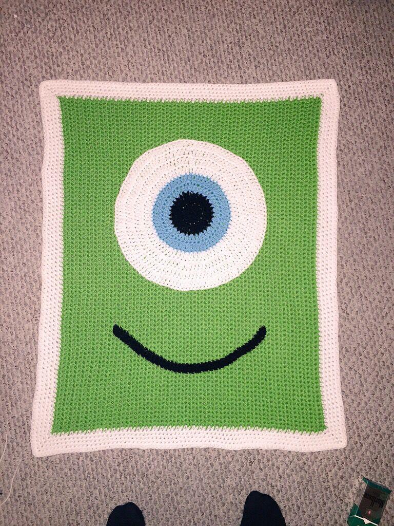 MonstersInc #Crochet #BabyBlanket Monster Inc crocheted baby blanket ...