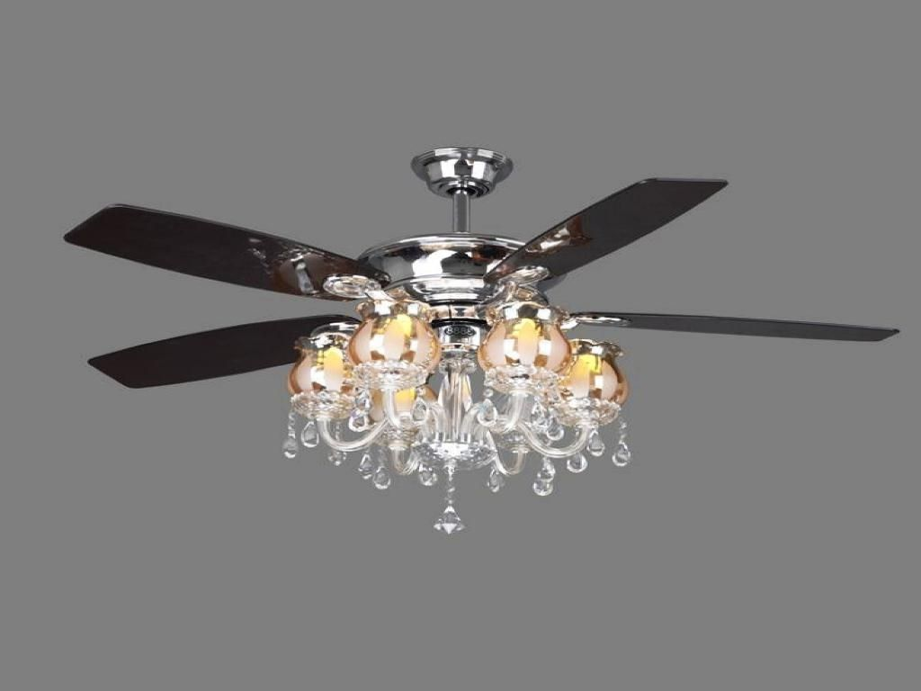 Image result for ceiling fan with crystal chandelier light ...