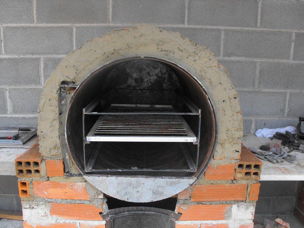 Horno de tambor horno le a pinterest pizzas oven - Construir horno de lena ...