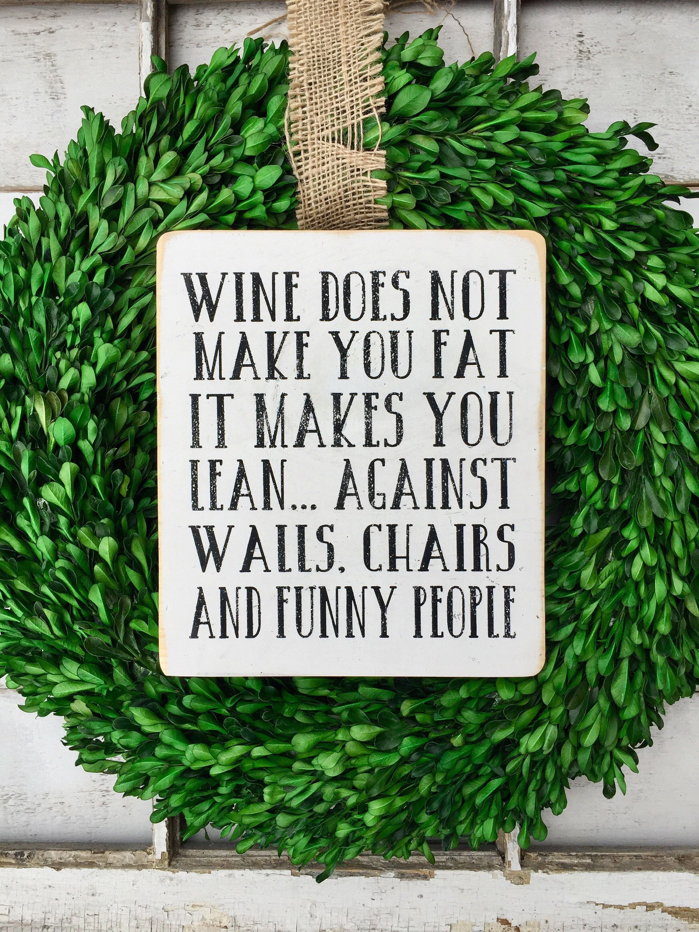 Wine Signs Decor Fair Winewine Sign Funny Wood Signs Signs Home Decor Kitchen 2018