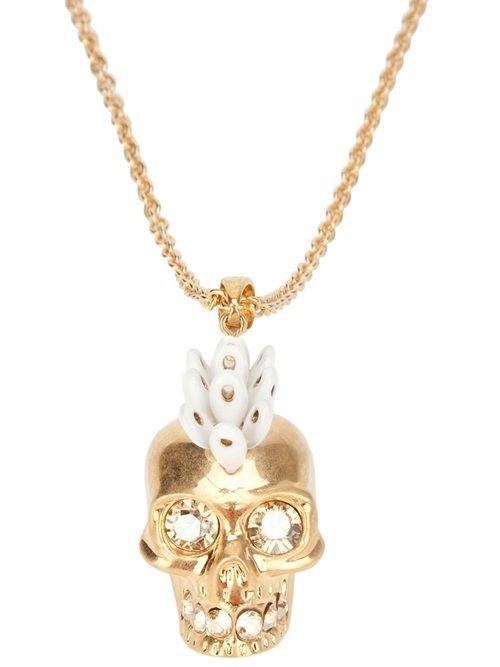 ☆ Alexander Mcqueen Mohican Skull Necklace ☆
