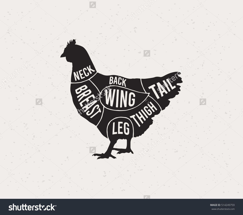 Chicken Cuts Diagram Wiring Portal Chickencutsdiagram Diagrams For Butcher Shop Scheme Of Vector Rh Pinterest Com Meat