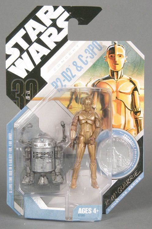STAR WARS TAC 30TH ANNIVERSARY CELEBRATION IV  MCQUARRIE CONCEPT R2-D2 /& C-3PO