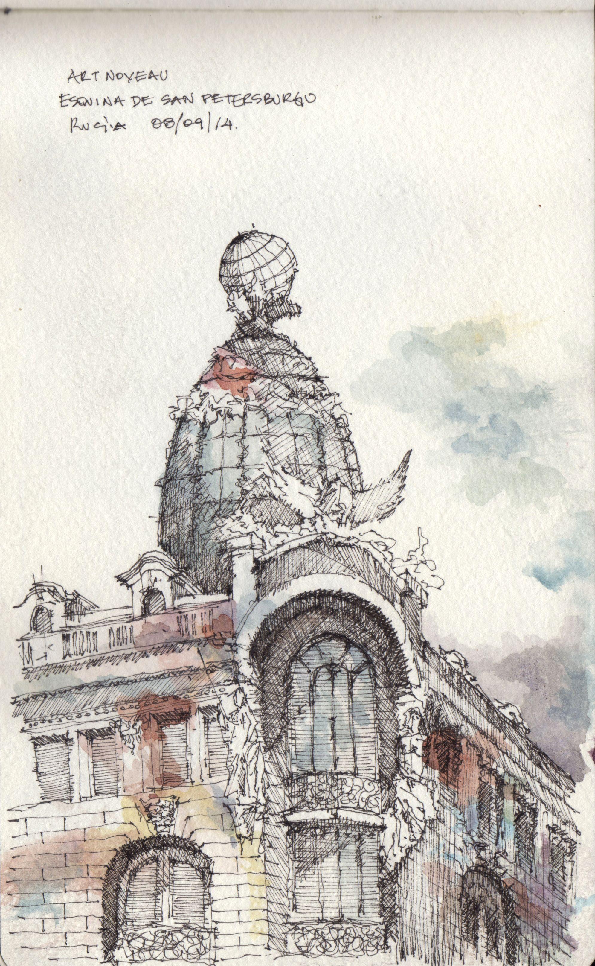 Croquis - St Petersburgo - por Facundo Alvarez