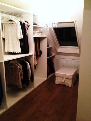 Wardrobe under sloping roof  Wardrobe under sloping roof roof