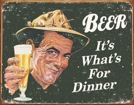 FRIDGE MAGNET MAN CAVE HUMOUROUS DINER ALCOHOL BEER RETRO TIN SIGN WALL PLAQUE