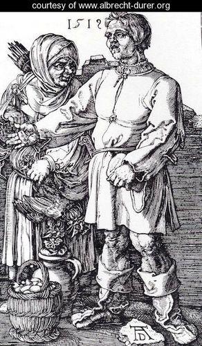 The Peasant And His Wife At Market - Albrecht Durer - www.albrecht-durer.org