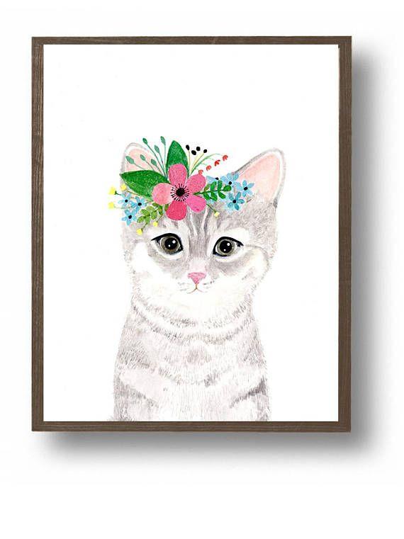 kleines Kätzchen Die Farben sind reich und lebendig, und der Druck ...