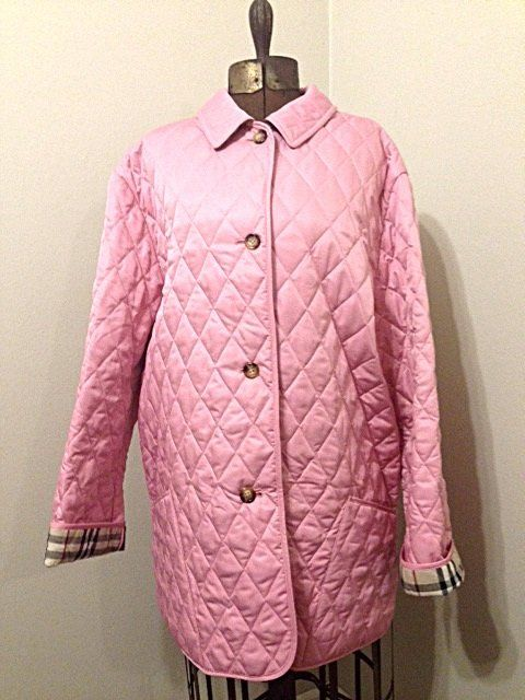 Loading Quilted Jacket Burberry London Pink Jacket