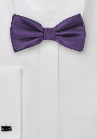 Herren-Schleife unifarben violett