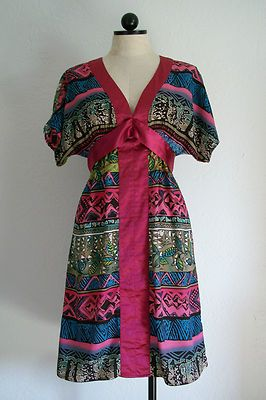 FUMBLIN FOE Boho Hippie Multi Color Summer Dress- S $20