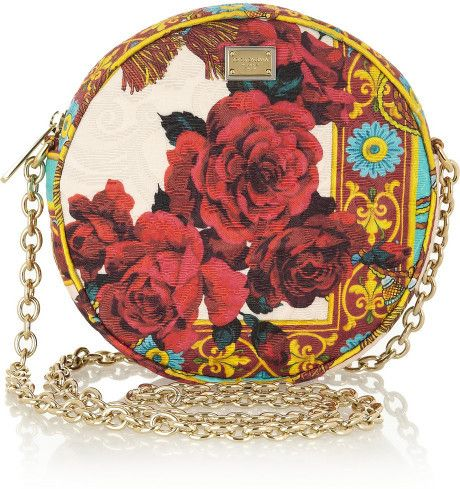 Dolce & Gabbana Multicolor Glam Floralbrocade Shoulder Bag