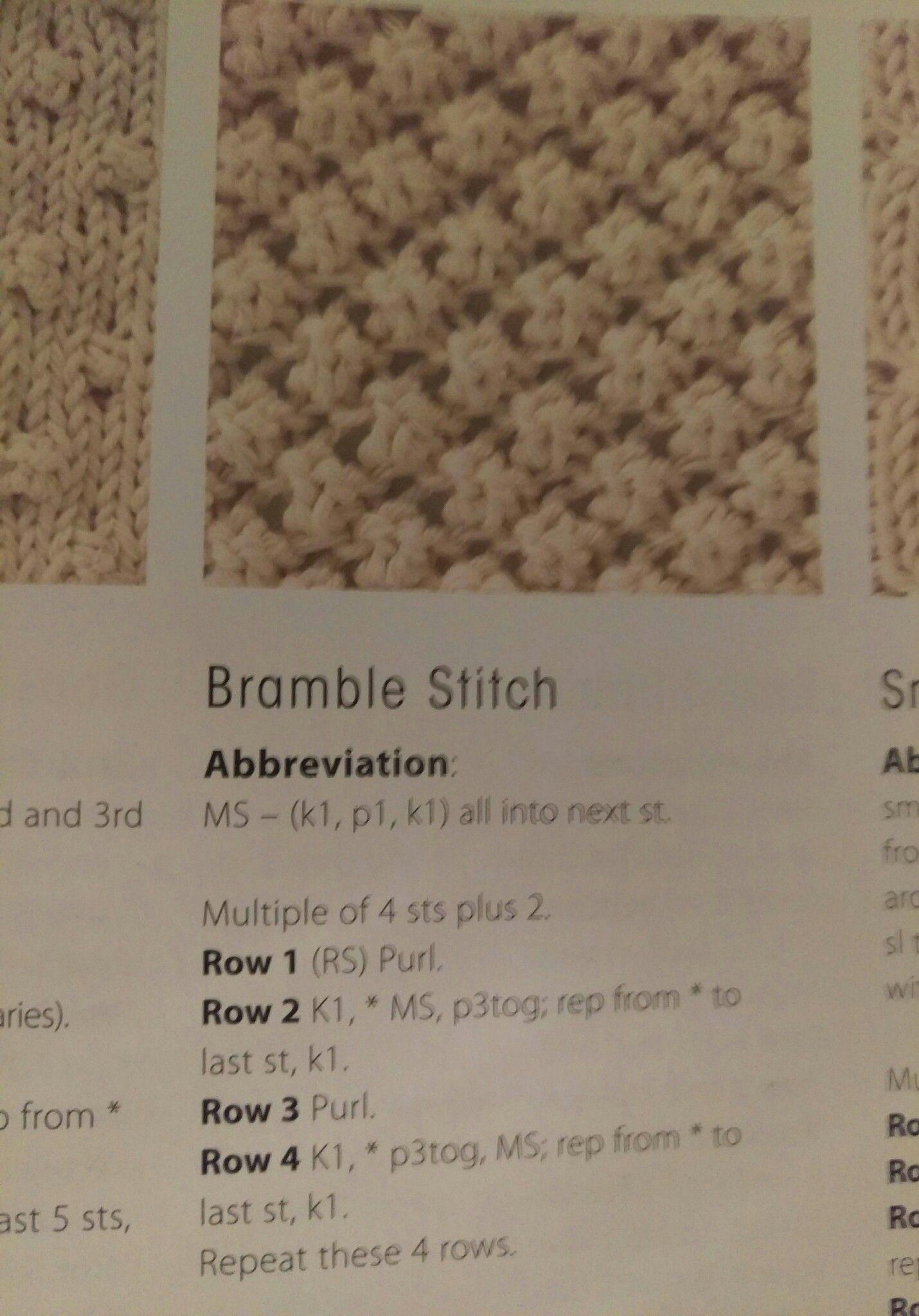 Bramble stitch | Knittingcroche | Knitting stitches