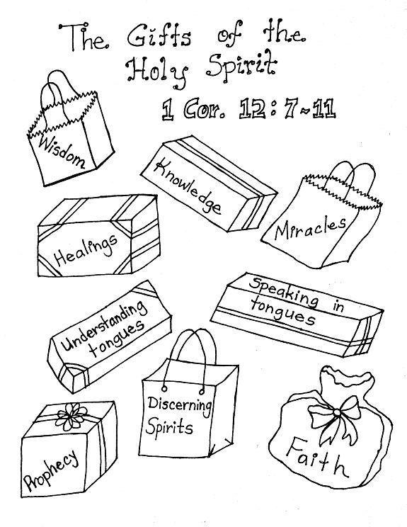LDS Gifts Of The Holy Spirit Coloring Pages