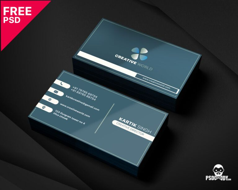 Modern Corporate Business Card Template Psddaddy Throughout Unique Busin Free Business Card Templates Unique Business Cards Business Cards Creative Templates