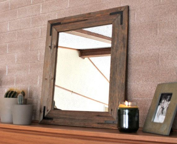 Rustic Wall Mirror Wall Mirror 18 X 24 Vanity Mirror Bathroom Mirror Rustic Mirror Reclaimed Wood Mirror Bathroom Vanity