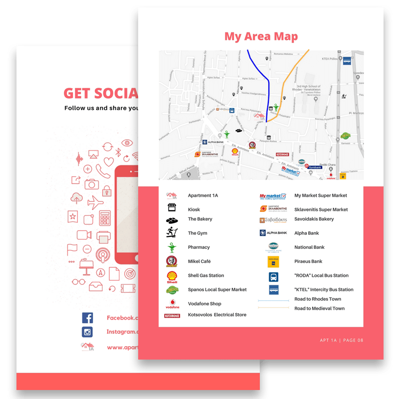 AirBnB House Manual Guidebook Template - 72 South - A Greek