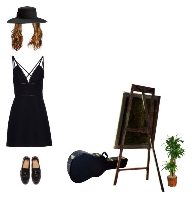 """art freak"" by bl00ming-wallflower ❤ liked on Polyvore featuring Nearly Natural, Prada and Brixton"